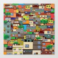 rio de janeiro Canvas Prints featuring Favela, Rio de Janeiro by Rceeh