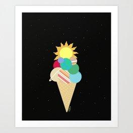 A Universe Cone, Please Art Print