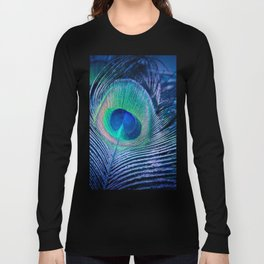 Peacock Feather Blush Long Sleeve T-shirt