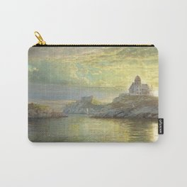 Harbor entrance on Bull Point, Newport, Rhode Island by William Trost Richards Carry-All Pouch