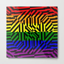 Best Abstract Art (Rainbow Colors) Metal Print