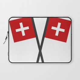 Swiss flag Laptop Sleeve