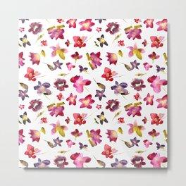Floral vibes in watercolor Metal Print