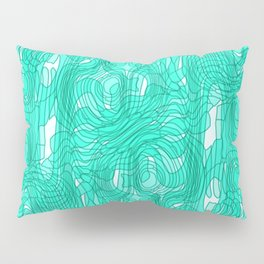 Subtle interweaving of sparkling smudges from light blue lava and light chaotic cycle. Pillow Sham