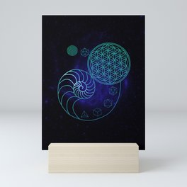 Sacred Geometry Spiral of Creation Mini Art Print