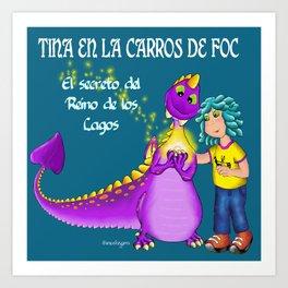 Tina & Carros de Foc Art Print