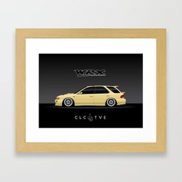 Blaze Yellow GF8 WRX Framed Art Print