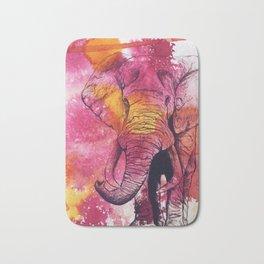Bright Elephant Bath Mat