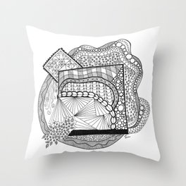 Abstracted Nature Shape 1 Throw Pillow
