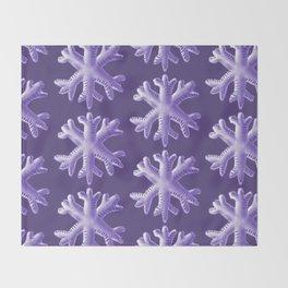 Ultra Violet Snowflake Pattern Throw Blanket