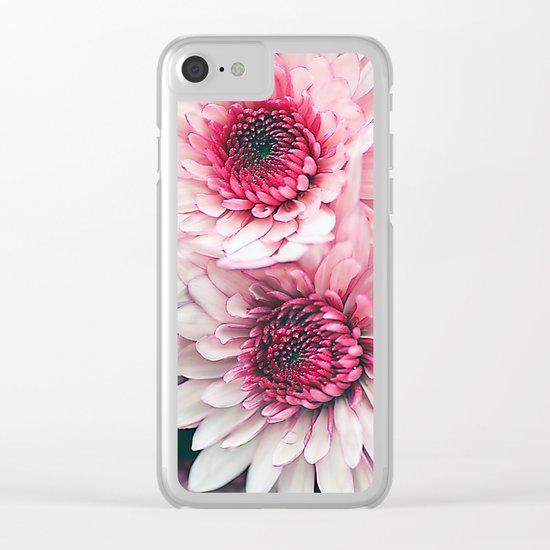 Pink asters. Clear iPhone Case