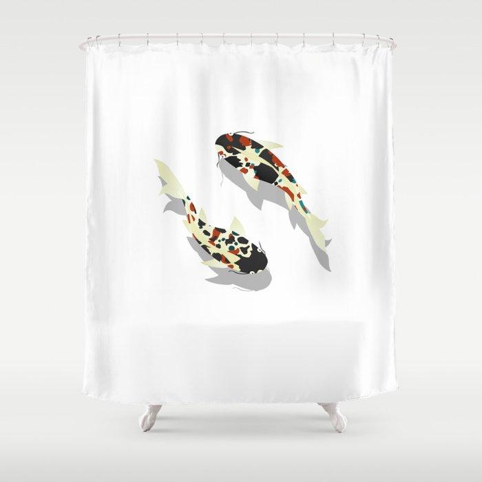 Koi Fish Shower Curtain By Rceeh