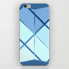 Mosaic tiled glass with black rays iPhone Skin