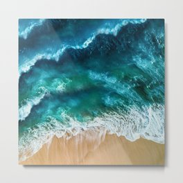 contrasted sea Metal Print