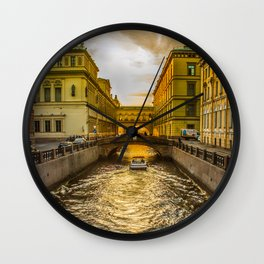 Swan Canal in St. Petersburg Wall Clock