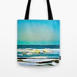 Lake Huron Winter Tote Bag