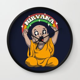 Kawaii is to Enlightenment Wall Clock