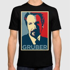 GRUBER Black Mens Fitted Tee LARGE