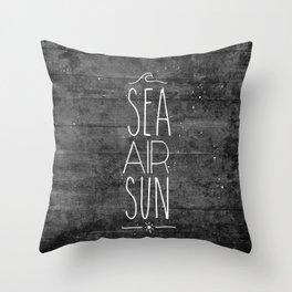 Sea, Air & Sun Throw Pillow