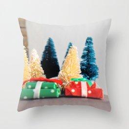 Mini Trees & Presents Throw Pillow