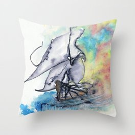Edge of the Earth Throw Pillow