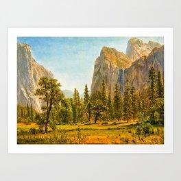 Albert Bierstadt - Bridal Veil Falls, Yosemite Valley, California - Digital Remastered Edition Art Print