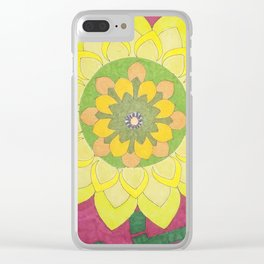 Flower of My Sun Clear iPhone Case