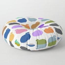 Colorful cartoon sheep pattern Floor Pillow