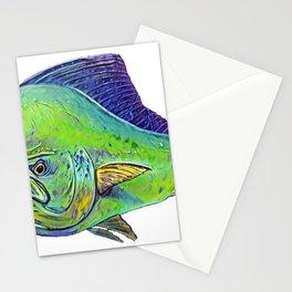 Mahi Mahi Dolphinfish Dorado Draw Bright Polished Surface Stationery Cards