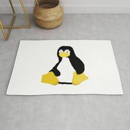 Linux Tux primitive painting Rug