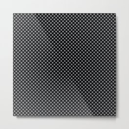 Black and Sharkskin Polka Dots Metal Print
