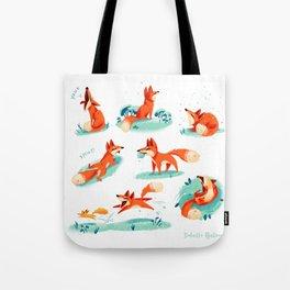 Foxy Poses Tote Bag