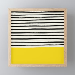 Sunshine x Stripes Framed Mini Art Print