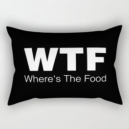 WTF - Where's The Food Rectangular Pillow