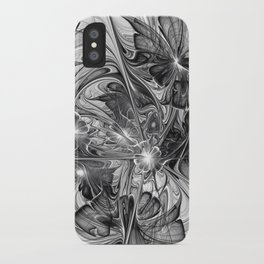 Black And White Abstract Art iPhone Case
