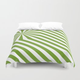 Stripes explosion - Green Duvet Cover