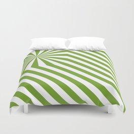 Stripes explosion - Green Duvet Cover