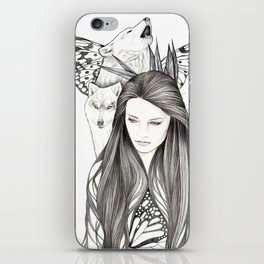 I Am The Wolf iPhone Skin