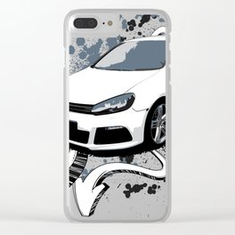 White Golf - Arrows Clear iPhone Case
