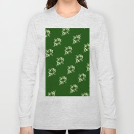 Canalflowers on green pattern Long Sleeve T-shirt