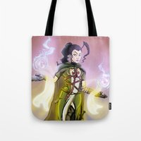 dark souls Tote Bags featuring Souls. by Peter Forsman