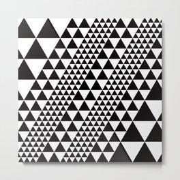 Geometric Pattern #39 (black triangles) Metal Print