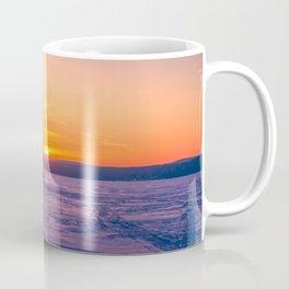 The snow mobile race toward the Sun pillar Coffee Mug