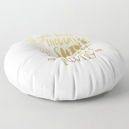 Good thoughts - gold lettering Floor Pillow
