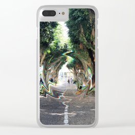glllitched_september Clear iPhone Case