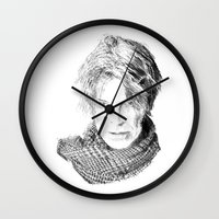 lucas david Wall Clocks featuring David by Rabassa