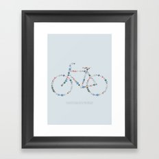 Free the bike lanes! Framed Art Print