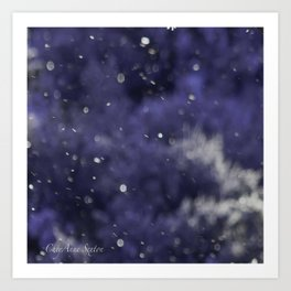 Holidaze Purple with SnowFlakes by CheyAnne Sexton Art Print