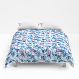 Ipomea Flower_ Morning Glory Floral Pattern Comforters