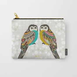 Facing owls Carry-All Pouch